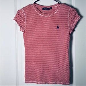 Polo By Ralph Lauren Red and White Striped Top